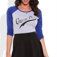 Raglan Top with Queen Bee Screen