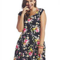 Floral Skater Dress | Wet Seal+