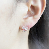 Twinkle star Earrings / choose your color / gold, silver