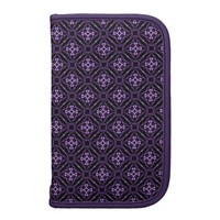 Purple Geometric Diamond Pattern Organizer