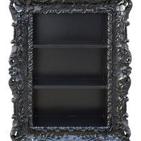 Fabulous and Baroque — Felicia Wall Mounted Etagere - Black