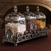 GG Collection Three Glass Canisters - Neiman Marcus