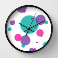 Dots Wall Clock by eDrawings38 | Society6