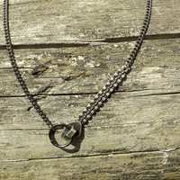 10 OFF Zip necklace by Tarikajewellery on Etsy