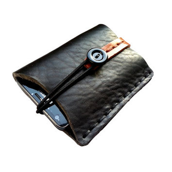 iphone 4 iphone 5 case Galaxy s2 sleeve bag pouch pocket brown leather handmade personalize