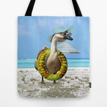 Summer Fun at the Beach ~ Vacation Goose! Tote Bag by Gravityx9