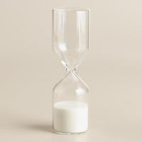 Mini Glass Sand Timer - World Market