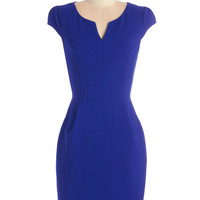 ModCloth Cap Sleeves Shift Cove Conference Dress