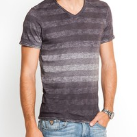 Tyron Short-Sleeve Striped V-Neck | GUESS.com