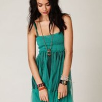 FP-1 Princess Green Smocking Slip at Free People Clothing Boutique
