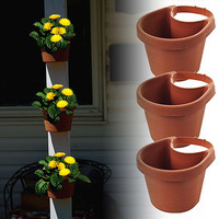 Walmart: TerraTrade 3pc Drain Pipe Planter Set