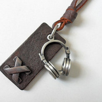 Jewelry necklace leather necklace men by braceletbanglecase