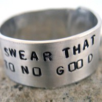 Harry Potter Ring  I Solemnly Swear That I Am Up to No by foxwise