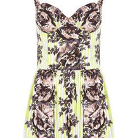Stripe Floral Print Playsuit - New In This Week - New In - Topshop
