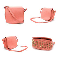 Pree Brulee - Gloriously Studded Rose Crossbody Handbag