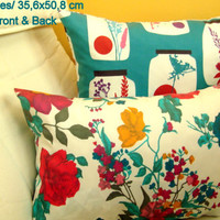 Floral Ocean Sea 14x20 pillow cover – Reversible cushion
