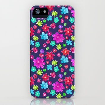 Sea of Flowers iPhone & iPod Case by TigaTiga Artworks