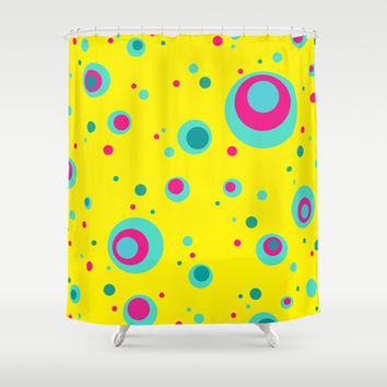 Summer Bubbles Shower Curtain by eDrawings38 | Society6