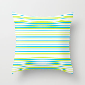 Stripes on white Throw Pillow by eDrawings38 | Society6
