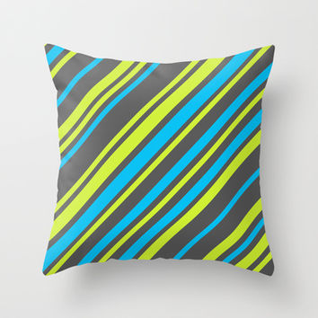 Stripes Throw Pillow by eDrawings38 | Society6