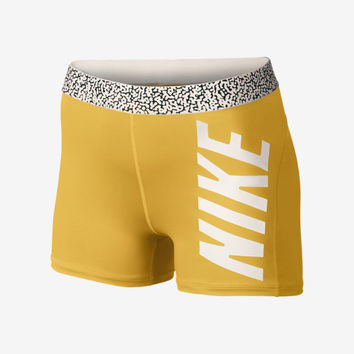 "Nike Pro Core Mezzo Waistband 3"" Compression Women's Shorts - Volt"