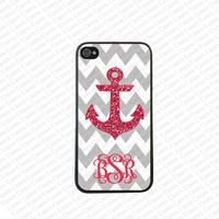 Monogram iPhone 5s case, Monogram Iphone 5 Case, Anchor Monogram iPhone 5 Cover,Monogram Case