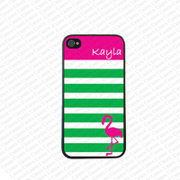 Monogram iPhone 5s case, Monogram Iphone 5 Case, Flamingo iPhone 5 Cover,Monogram Case