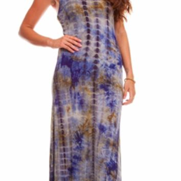 Tie Dye Racer Back Maxi Dress