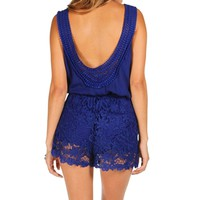 Royal Lace Romper