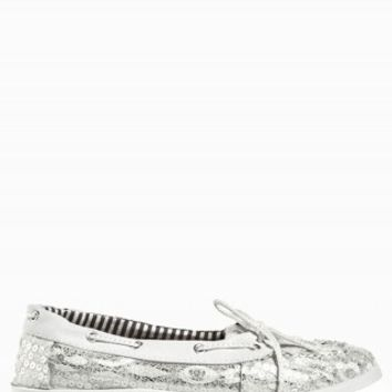 CROCHET SEQUIN BOAT SHOES