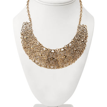 Filigree Bib Necklace