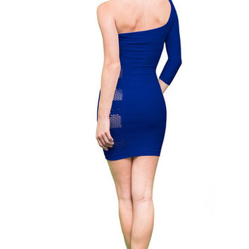 One Shoulder Contemporary Dress (5 Colors Available) | Verona