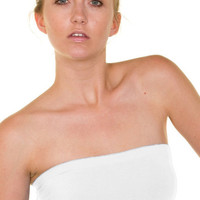 Essential Seamless Bandeau Tube Top (White) | Verona