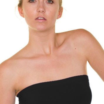 Essential Seamless Bandeau Tube Top (Black) | Verona