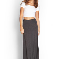 Ruched Side Maxi Skirt