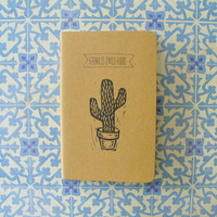 moleskine notebook - genius lives here, cactus
