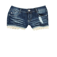 Crochet Bottom Short - Dark Blue