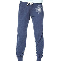 Slim Pants in Navy Daisy