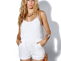 Papaya Clothing Online :: FLORAL LACY POCKET ROMPER