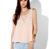 Papaya Clothing Online :: lace neck sweetheart chiffon top
