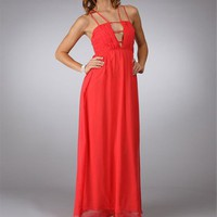 Agatha-Coral Homecoming Dress