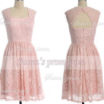 2014 homecoming dress,lace short dress,evening dress,short bridesmaid dress,prom dress.cocktail dress