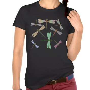 Colorful Iridescent Dragonflies Print