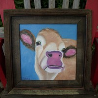 Cow Painting Original Oil Painting by by honeyscolors on Etsy