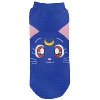 Strapya World : Sailor Moon Character Special Edition Cute Socks (Luna Face)