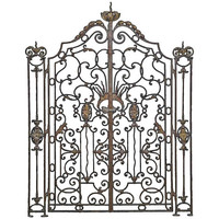 French Louis XV Style Wrought Iron Gate, 19th Century