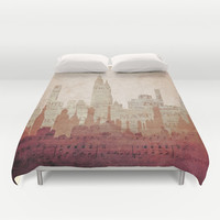 Paper City Duvet Cover by Ally Coxon | Society6