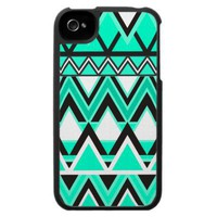 Turquoise Tribal Pattern Iphone 4 Speck Cover
