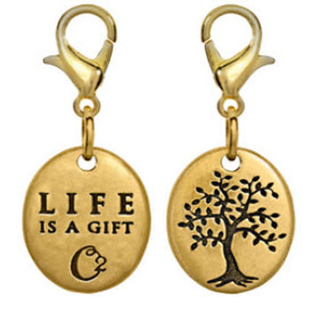 Origami Owl Life Tree Dangles Gold Plated Living Memory Locket Chains Charms A01