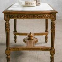 Vintage Gilt Marble Top Coffee Table